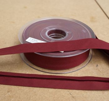 Bias Binding 25mm - Red Wine 762 - Polycotton - Metre