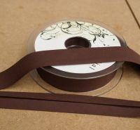 Bias Binding 25mm - Chocolate Brown 937 - Polycotton - Metre