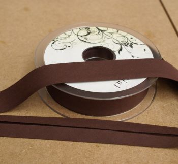 Bias Binding 25mm - Chocolate Brown 937 - Polycotton - Metre