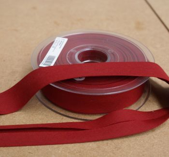 Bias Binding 25mm - Dark Red 742 - Polycotton - Metre