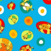 Dr Seuss Fabric - Hop on Pop - Colourful Eggs - Blue - 100% Cotton