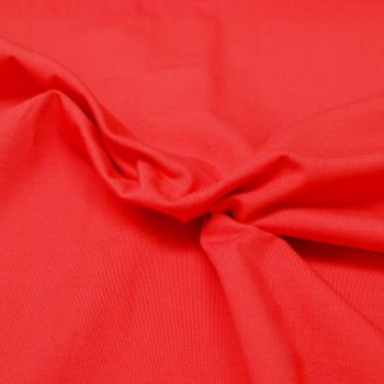 Stretch Jersey Knit Fabric - Plain Red - 95% Cotton 5% Lycra Half Metre