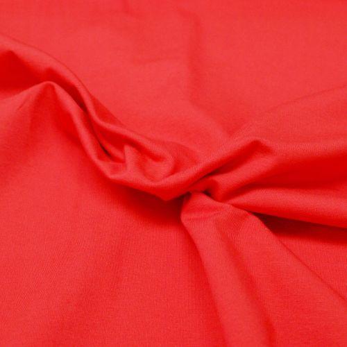 Stretch Jersey Knit Fabric - Plain Red - 95% Cotton 5% Lycra Half Metre