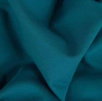 Stretch Ribbing/Collar/Cuff Fabric - Plain Petrol Blue LW - 96% Cotton 4% Lycra Half Metre