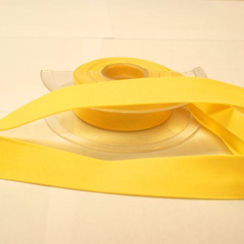Bias Binding 25mm - Lemon Yellow 629 - Polycotton - Metre