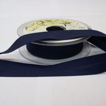 Bias Binding 25mm - Navy Blue 210 - Polycotton - Metre