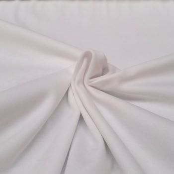 Jersey Knit T-Shirt Fabric - Plain White - 100% Cotton - Half Metre