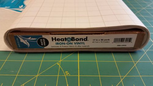 Heat n Bond - Iron on Vinyl Laminate - Matte - Water Resistant Covering - M