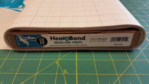 Heat n Bond - Iron on Vinyl Laminate - Matte - Water Resistant Covering - M