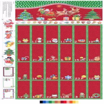 Nutex Fabric - Advent Calendar - 100% Cotton