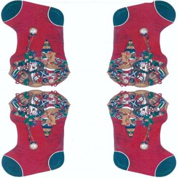 Nutex Fabric - Medium Christmas Stockings - 2 per panel - 100% Cotton