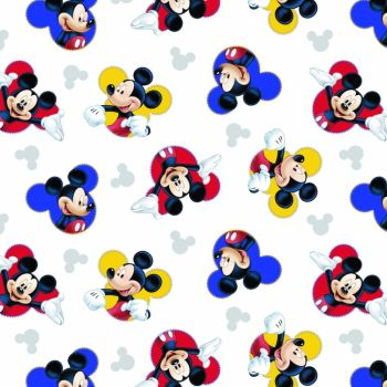 Disney Fabric  - Mickey Mouse The One and Only - White - 100% Cotton