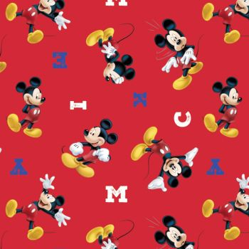 Disney Fabric  - Mickey Mouse - MICKEY - Red - 100% Cotton