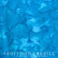 Hoffman Batik Fabric - Watercolour 1895 - Election Day Blue - 100% Cotton