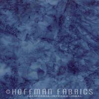 Hoffman Batik Fabric - Watercolour 1895 - Delft Blue - 100% Cotton