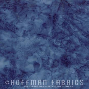Hoffman Batik Fabric - Watercolour 1895 - Delft Blue - 100% Cotton