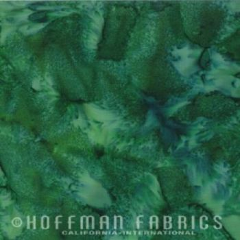 Hoffman Batik Fabric - Watercolour 1895 - Aventurine Green - 100% Cotton
