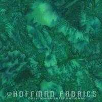 Hoffman Batik Fabric - Watercolour 1895 - Belize Green - 100% Cotton