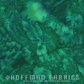Hoffman Batik Fabric - Watercolour 1895 - Belize Green - 100% Cotton