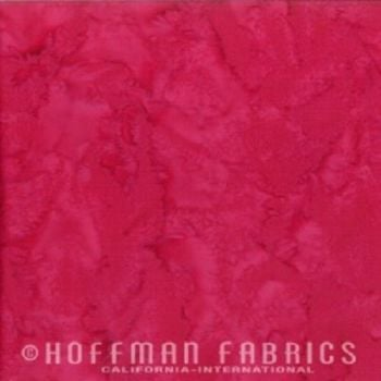 Hoffman Batik Fabric - Watercolour 1895 - Strawberry Daiquiri - 100% Cotton