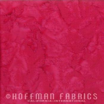 Hoffman Batik Fabric - Watercolour 1895 - Strawberry Daiquiri - 100% Cotton
