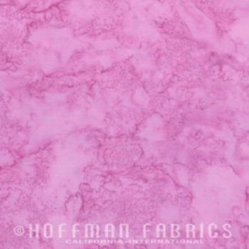 Hoffman Batik Fabric - Watercolour 1895 - Primrose Pink - 100% Cotton