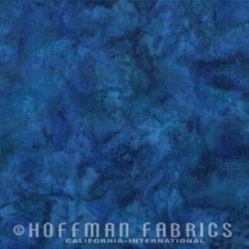 Hoffman Batik Fabric - Watercolour 1895 - Marlin Blue - 100% Cotton