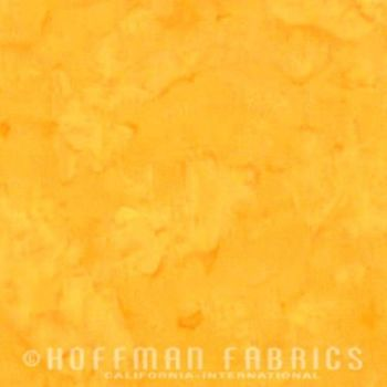 Hoffman Batik Fabric - Watercolour 1895 - Daffodil Yellow - 100% Cotton