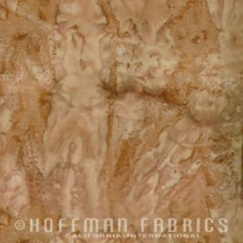 Hoffman Batik Fabric - Watercolour 1895 - Mocha Brown - 100% Cotton