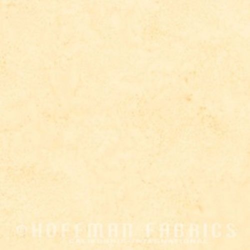 Hoffman Batik Fabric - Watercolour 1895 - Butter Cream - 100% Cotton
