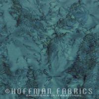 Hoffman Batik Fabric - Watercolour 1895 - Teal Blue - 100% Cotton