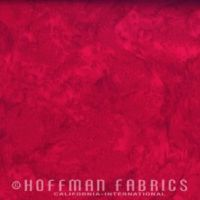 Hoffman Batik Fabric - Watercolour 1895 - Cardinal Red - 100% Cotton