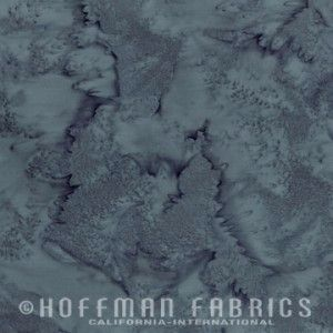 Hoffman Batik Fabric - Watercolour 1895 - Charcoal Grey - 100% Cotton