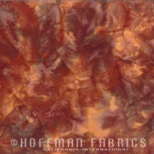Hoffman Batik Fabric - Watercolour 1895 - Grizzly Brown - 100% Cotton