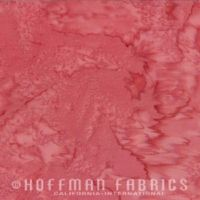 Hoffman Batik Fabric - Watercolour 1895 - Tara Pink - 100% Cotton