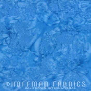 Hoffman Batik Fabric - Watercolour 1895 - Atlantic Blue - 100% Cotton