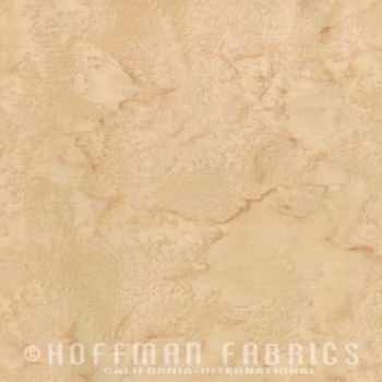 Hoffman Batik Fabric - Watercolour 1895 - Aspen Tan - 100% Cotton