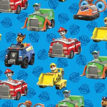 Paw Patrol Fabric - Rescue - Blue - 100% Cotton