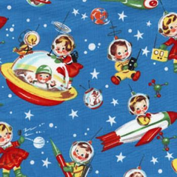 All fabrics fabritastic fantastic fabrics patchwork for Retro space fabric uk