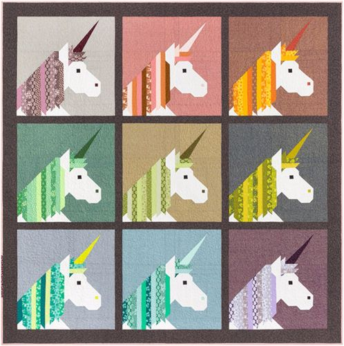 Lisa The Unicorn - Quilt and Cushion Block Pattern