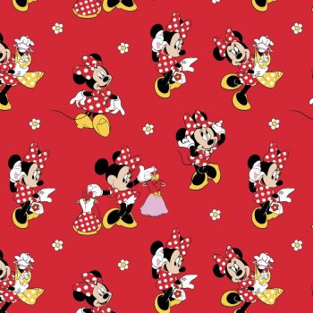Disney Fabric  - Minnie Mouse Loves Dresses - Red - 100% Cotton