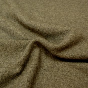 Boiled Wool Viscose Blend - Grey - 40% Wool, 60% Viscose - Half Metre