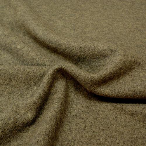 Boiled Wool Viscose Blend - Grey - 40% Wool, 60% Viscose - Half Metre