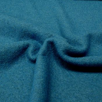 Boiled Wool Viscose Blend - Blue - 40% Wool, 60% Viscose - Half Metre