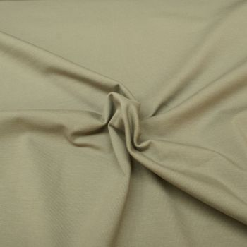 Stretch Jersey Knit Fabric - Plain Light Grey - 95% Cotton 5% Lycra Half Metre
