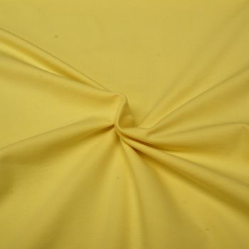 Stretch Jersey Knit Fabric - Plain Light Yellow - 95% Cotton 5% Lycra Half Metre