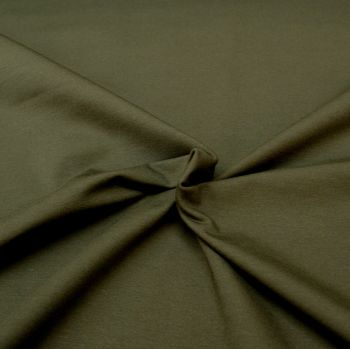 Stretch Jersey Knit Fabric - Plain Dark Grey - 95% Cotton 5% Lycra Half Metre