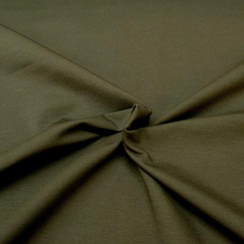 Stretch Jersey Knit Fabric - Plain Dark Grey - 95% Cotton 5% Lycra Half Met
