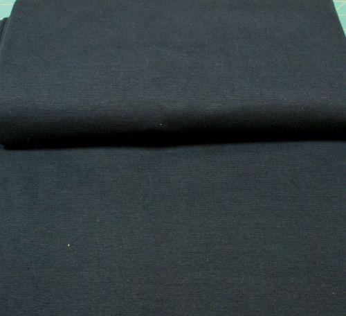 Stretch Ribbing/Collar/Cuff Fabric - Plain Navy LW - 96% Cotton 4% Lycra Ha