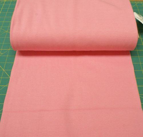 Stretch Ribbing/Collar/Cuff Fabric - Plain Pink LW - 96% Cotton 4% Lycra Ha